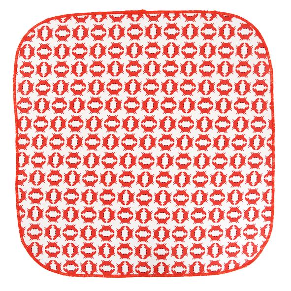 mouchoir en coton crabe