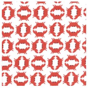 mouchoir en tissu Koshi motif crabe
