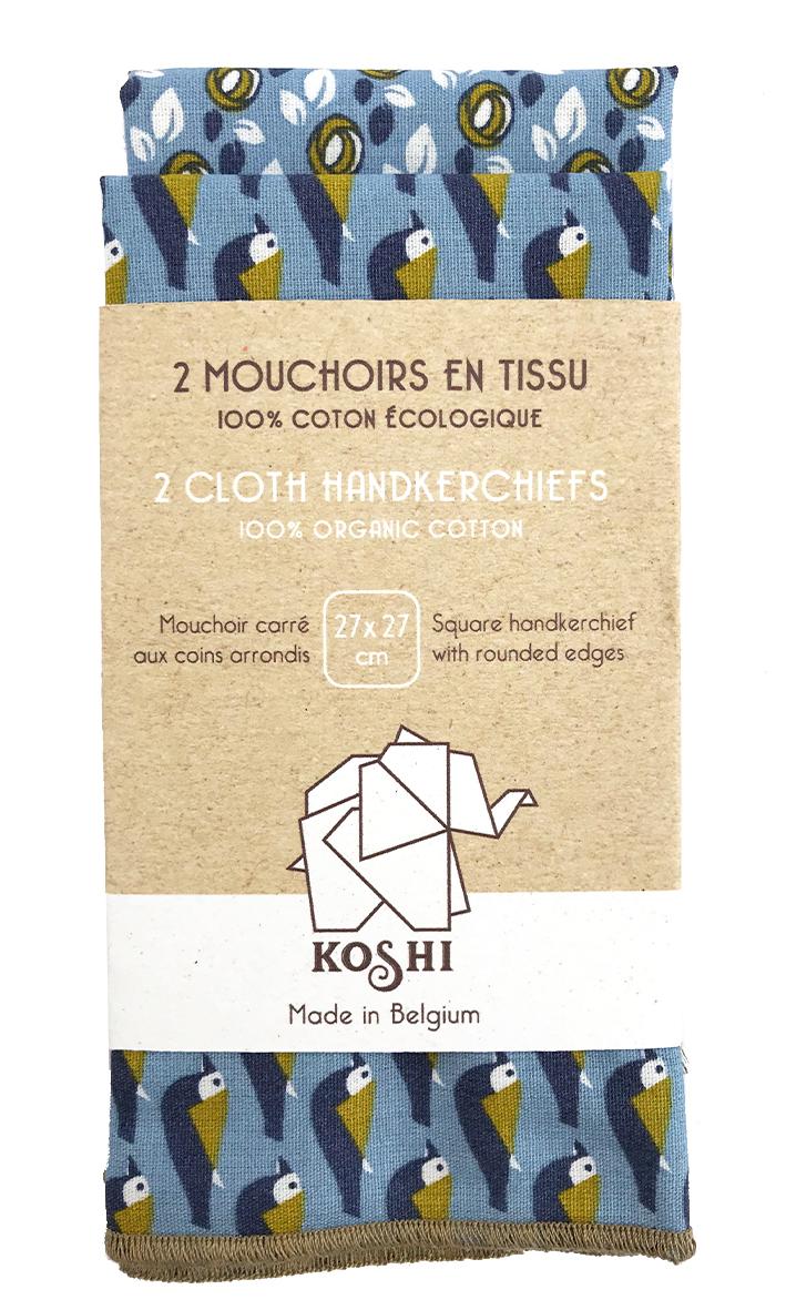 Mouchoir en tissu duo small Koshi