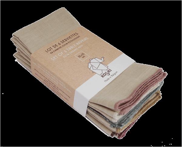 lot de 6 serviettes de table koshi