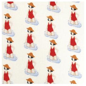 mouchoir en tissu Koshi motif madame nage