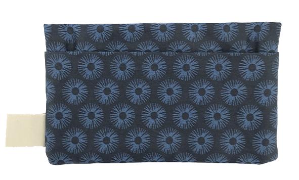 pochette koshi fleurs de nuit verso