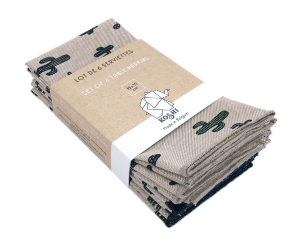 Lot de 6 serviettes de table en coton