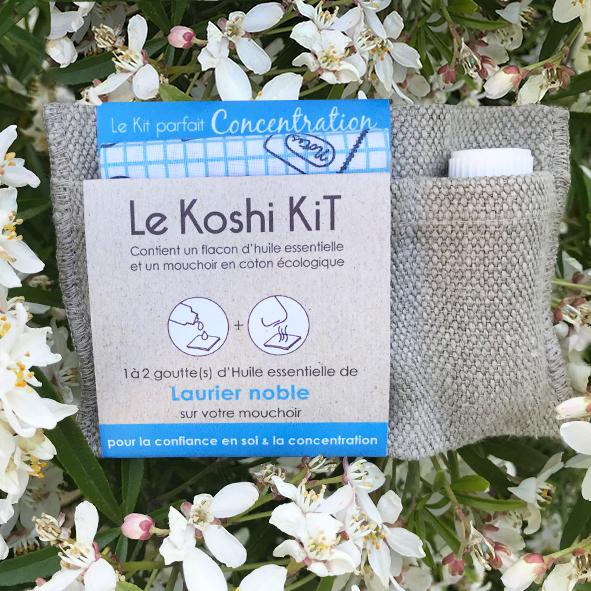 Koshi Kit huile essentielle et mouchoir en tissu. Thème
