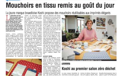 La marque Koshi remet les mouchoirs en tissu au goût du jour