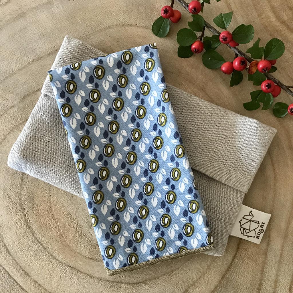 Pochette et mouchoir en tissu Koshi